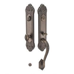 Aleación de zinc sólido duradero Mango las claves de la cerradura de puerta mecánica