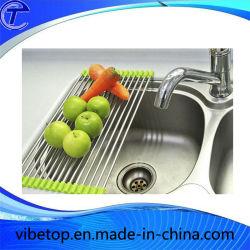 Складной дизайн кухни из нержавеющей стали для установки в стойку слива сушки
