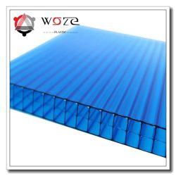 Feuille de creux en polycarbonate serre Anti-Drip Multi-Wall carte en plastique pour l'abri de voiture, toitures, le soleil de l'ombre