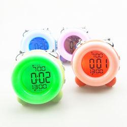 겉잠 시간 데이터 중연륜을%s 가진 LCD 벨 경보 디지털 테이블 책상 시계