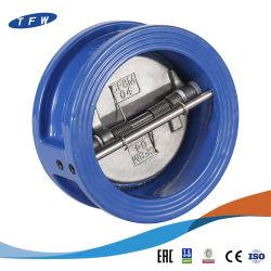 Padrão ANSI fabricados na China de aço inoxidável com chapa dupla e a válvula de retenção de wafers