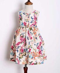 2017의 옷이 최신 공상 꽃 인쇄한 패턴 아이 소녀 여름 면 복장에 의하여 농담을 한다