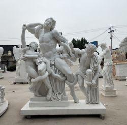 古代ギリシャ人のLaocoonの大理石の彫刻のギリシャ図石の彫像