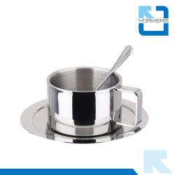 3 штук 304 18/8 чашки кофе с ложкой и форму диска установите чашку кофе