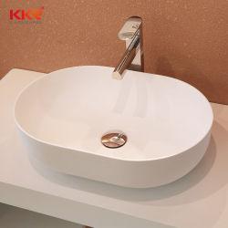 Dispersore di pietra di marmo di superficie solido bianco Handmade della stanza da bagno dell'imbarcazione della toletta moderna di Cupc