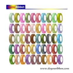 """Commercio all'ingrosso 1/4 """" - 2 """" nastri di nylon 48 Colors-Dy02001 di scintillio metallico del nastro argento/dell'oro"""