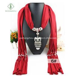 Hot Sale Owl pendentifs en alliage de Fashion Mesdames Bijoux foulard
