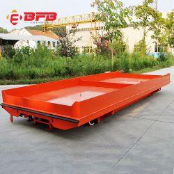 Befanby China batteriebetriebene industrielle Materialtransport-elektrische Schienen-Übergangsflachbettkarre