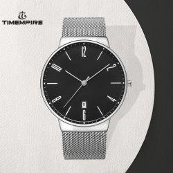 Klassische Metallband-Uhr-Edelstahl-Quarz-Mann-Uhr (72891)
