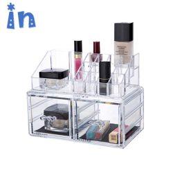 Crystal Clear 100% Injection-Mold оптовой пластиковый акриловый органайзера для макияжа