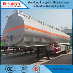 3 de Tank van de Legering van het Koolstofstaal van de as 30000L/40000L/50000L/Van het Roestvrij staal/van het Aluminium/de Semi Aanhangwagen van de Vrachtwagen van de Tanker voor Diesel/van de Benzine/van de Ruwe olie/van het Water/van de Melk Vervoer van de Olie/van de Brandstof/