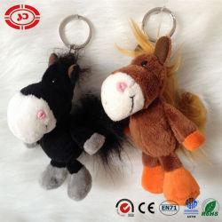Новая конструкция мягкие лошадь животных кукла фаршированные цепочки ключей игрушка