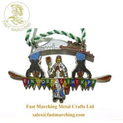 precio de fábrica personalizada Regalo el esmalte de acabado de metal medallas religiosas en línea