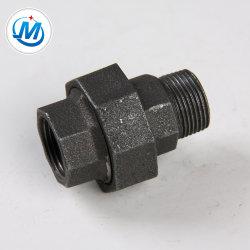 配管の適切な水は黒い表面1/2の可鍛性鉄の平らなシートの円錐連合を接続する