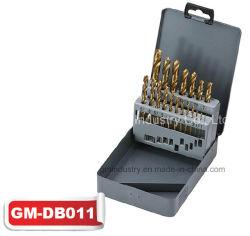 19pcs tige droite HSS Foret Tin-Coated Twist Set (GM-dB011)