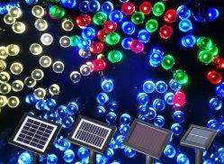LED-Solarsaitenleuchten, Sonnenkollektoren für Weihnachtsbeleuchtung, 8 Modi Ambiance Lighting für Außenbereiche, Terrasse, Rasen, Landschaft, Garten, Heim, Hochzeit (Kühles Weiß)