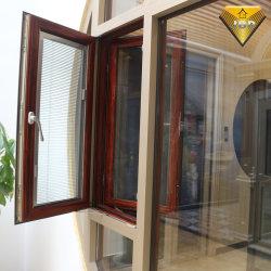 Vidro duplo personalizado Casement Alumínio Janela com rede mosquiteira