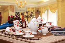 Insieme di caffè della porcellana della tazza del POT dell'insieme di caffè