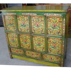 Старинная китайская деревянный шкаф окрашен удлиненный818-3