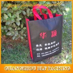 Design noir votre propre sac Non tissé (FLO-NW231)