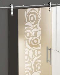 Serigrafía personalizada puerta de vidrio para la decoración del hogar