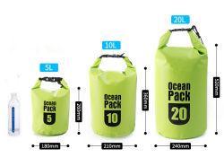Sacchetto asciutto esterno del PVC di marchio del pacchetto impermeabile su ordinazione dell'oceano