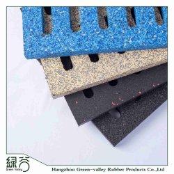 Couleur personnalisée en usine à l'extérieur des carreaux de sol en caoutchouc de la sécurité pavés pour jardin du parc de trottoir avec ce/fr71/FR1177/Reach/ISO10140