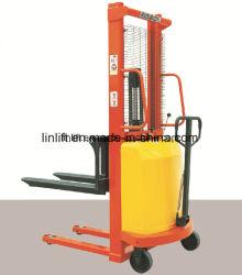1000 kg 、 1.6 m 、半電動バッテリ油圧スタッカ電動パレットフォークリフト