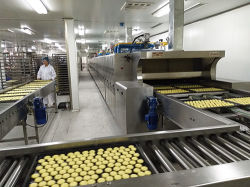 빵집 케이크 비스킷 크로와상 로타리 가스 터널 오븐용 CE를 포함한 생산 라인