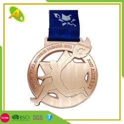 Preis-grosses schönes Goldpreiswertes Standplatz-Sport-Medaillen-Geschenk (288)