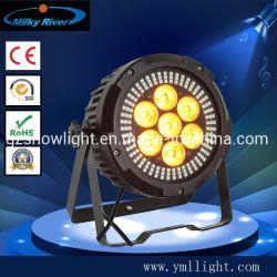7LED UV RGBWA+6en1 LED décoration de l'événement par lavage Flash Light avec SMD autour de la lumière