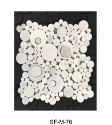 Waterjet White Marble Mosaic Sf-M-076 Tegels Voor Indoor Floor Wall Plafond