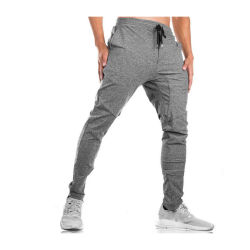 Мужские хлопок полиэстер капри с ребрами Sweatpants ноги открытия