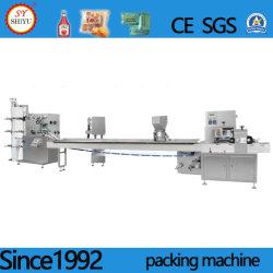 De volledig Automatische Machine van de Verpakking van het Servet van de Lepel van de Tandenstokers van de Eetstokjes van de Aaneenschakeling van het Vaatwerk van de Machine van het Pakket Beschikbare Roterende Verpakkende
