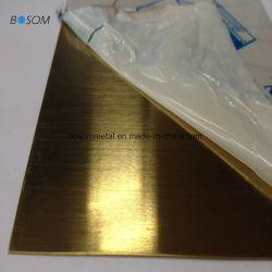 316L Blad 1000X2000mm 1219mmx2438mm 1220mmx2440mm van het Roestvrij staal van Spiegel 304 316 8K Gouden
