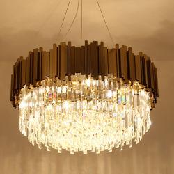 Or lampe moderne de gros lustre en cristal pour l'hôtel