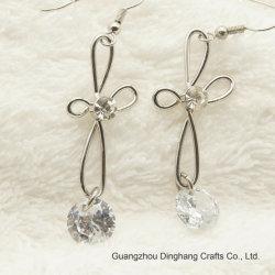 Electroplate и Электрофорез мода украшения Platinum цвет креста цветочный кубических обедненной смеси в раскрывающемся списке Rhinestone серьги