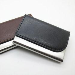 Nouveau design détenteur de carte de crédit automatique PU Étui en cuir avec pop up détenteur de carte de crédit