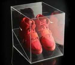 En acrylique transparent personnalisé Afficher boîte à chaussures pour le magasin de chaussures, afficher