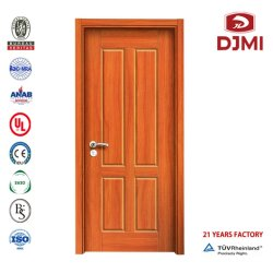 تصميم جديد تصميم داخلي بسيط من جلد PVC الخشب غرفة المعيشة الأبواب الداخلية