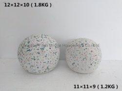 磨く水晶仕上げのTerrazzoの球の庭の装飾