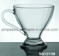 Nuevo diseño de taza de café de vidrio con asa