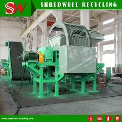 Shredwell utilizado para destruir la línea de reciclaje y residuos de neumáticos