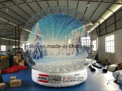 Открытый в натуральную величину Рождество фото надувные снег земного шара