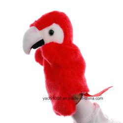 De nouveaux styles de marionnettes à main de somptueux animal en peluche perroquet jouet naturel