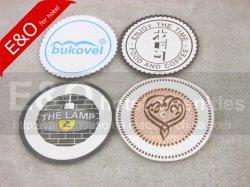 Отель одноразовые чашки бумаги Coaster при печати логотипов