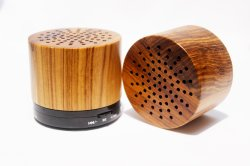 FCC van Ce keurde Houten Draadloze Draagbare Spreker Bluetooth met Aangepast Embleem goed