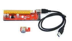 15 speld SATA Ver007s pci-e 1X aan 16X de Kaart van de Adapter van het Stootbord