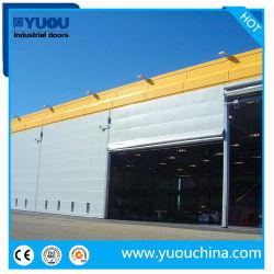Industrielle automatische Sicherheit Flexible PVC-Stofffaltstapel Mega Hangar Door für Shipyard & Airport & Strahlraum