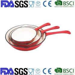 Ferro Fundido Porcelana Non-Stick Panelas Definir Frigideira Frypan Frigideira Frite Pan